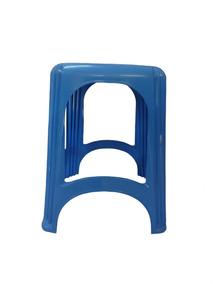 Banqueta Plástica Reforçada Capacidade 120 Kg Azul - Gibafer