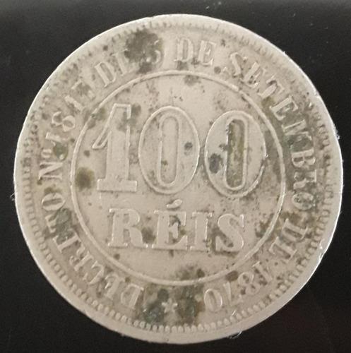 Imagem 1 de 2 de Moeda 100 Réis Ano 1883