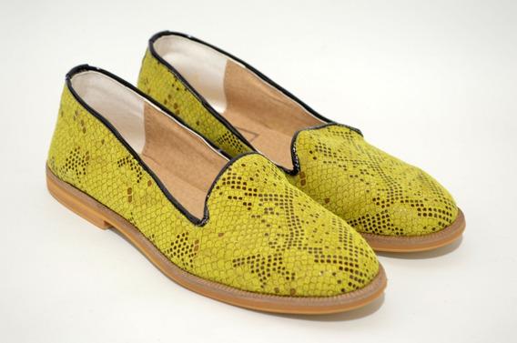 Chatitas,balerinas,zapatos Mujer,cuero Reptil Moda 320gu
