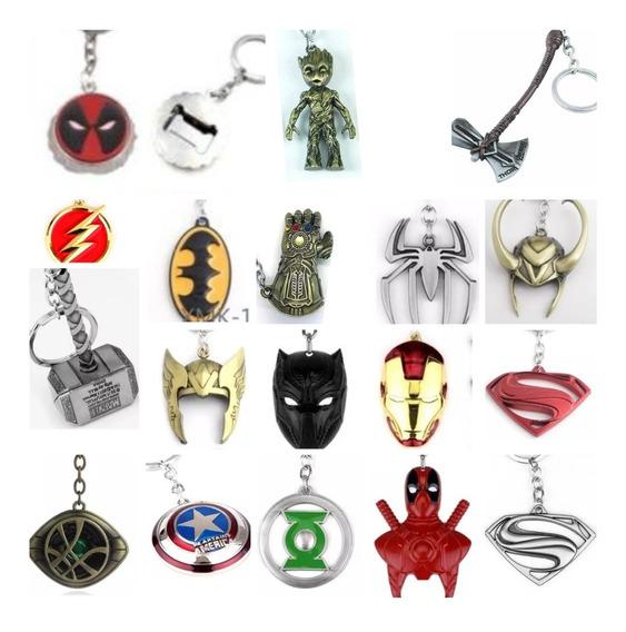 Llaveros Avengers Vengadores & Liga De La Justicia Mayoreo