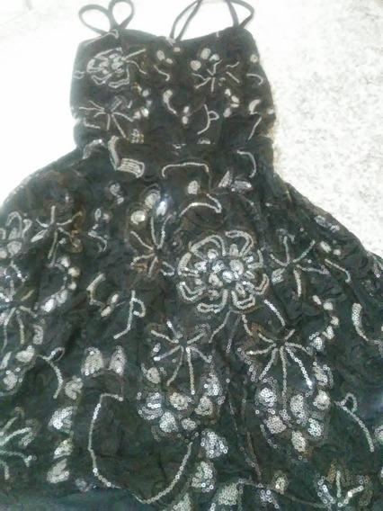 Vestido Talle 1 Lentejuelas Corto