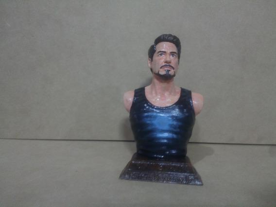 Busto De Tony Stark 12cm Alto Pintado A Mano (impresión 3)