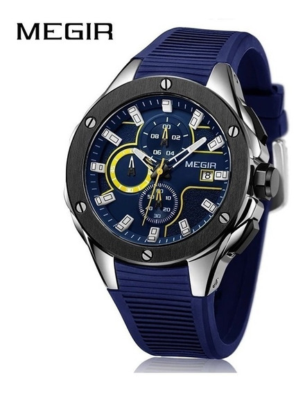 Relógio Masculino Esportivo Megir Original, Marca De Luxo