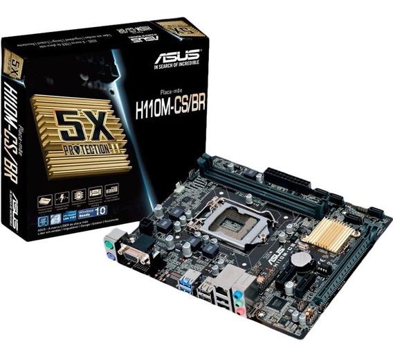 Asus H110m-cs + Processador I5 7400 + Memória Ddr4 16gb