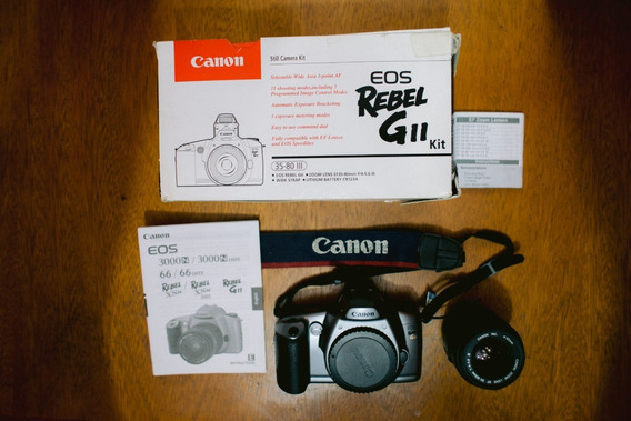 Canon Eos Rebel Gii Kit + Lente 35-80 - Analógica 35mm