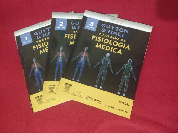 Tratado De Fisiologia Médica Guytton & Hall (3 Volumes)