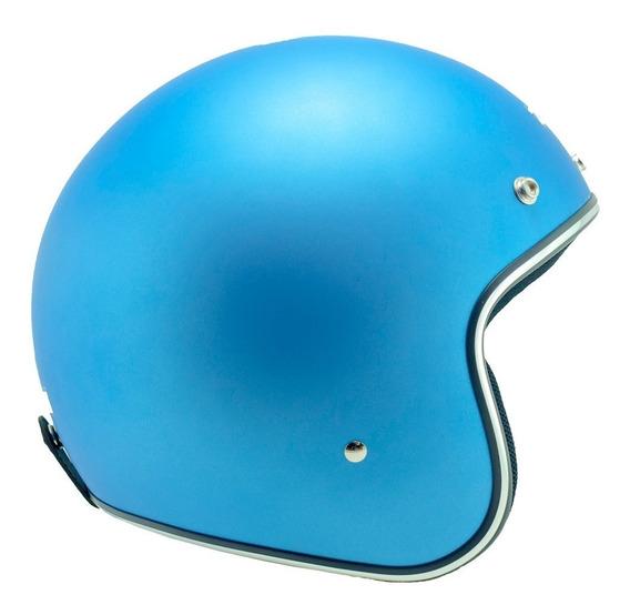 Capacete Zeus 380h Azul Fosco Metal
