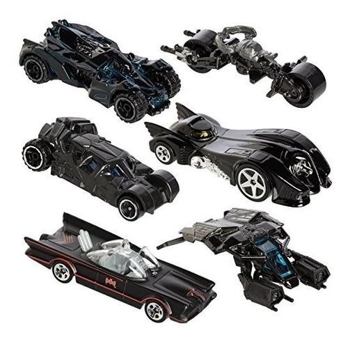 Hot Wheels Batman Batimovil Set 6 Exclusivos Vehículos