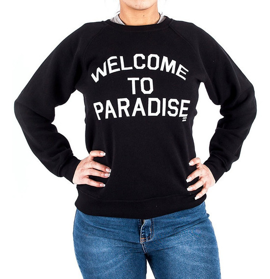 Buzo Billabong Welcome To Paradise Negro Mujer