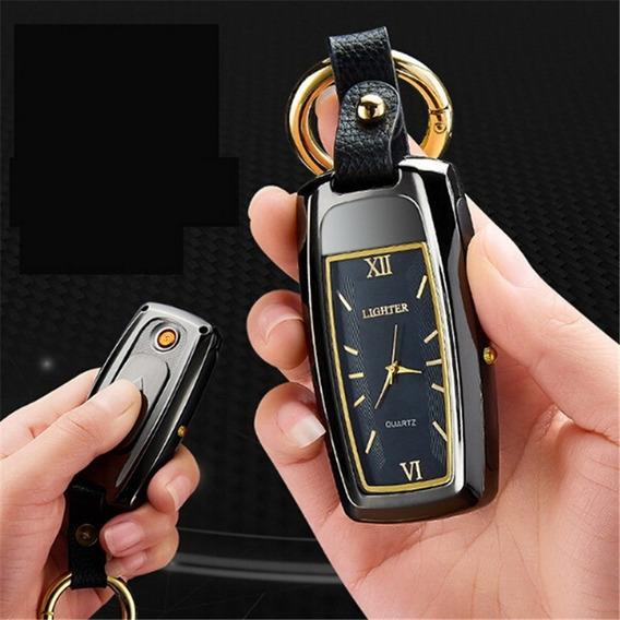 Multi -função Relógio Usb Carregamento Cigarro Isqueiro Com