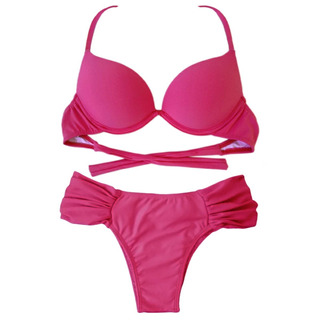 Conjunto Biquíni Bojo Turbo Push Up 3d Aumentax - Cor Lisa