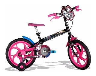 Bicicleta Caloi Monster High Aro 16 - Queima Estoque Natal