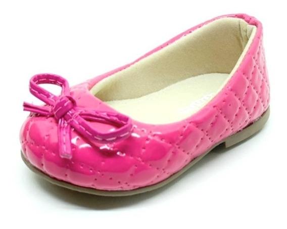 Sapatilha Infantil Menina Verniz Pink Daferinha