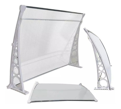 Kit Toldo Policarbonato 4mm 1,00x0,70 Milk Ou Transparente