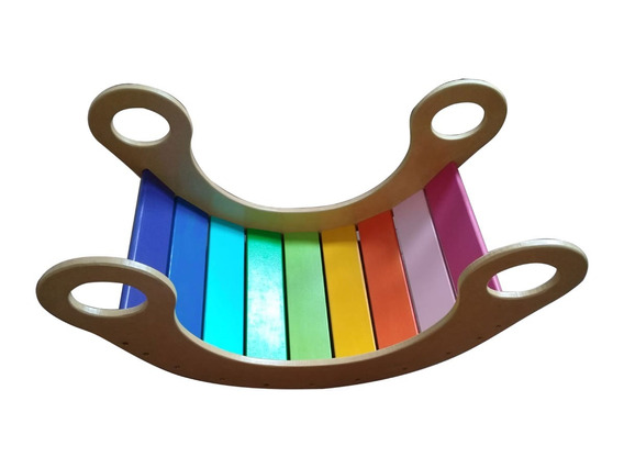 Hamaca Arcoiris Mecedora De Madera Pikler Waldorf Montessori
