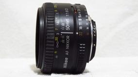 Lente Nikon 50mm 1.8 + Tampas E Parasol