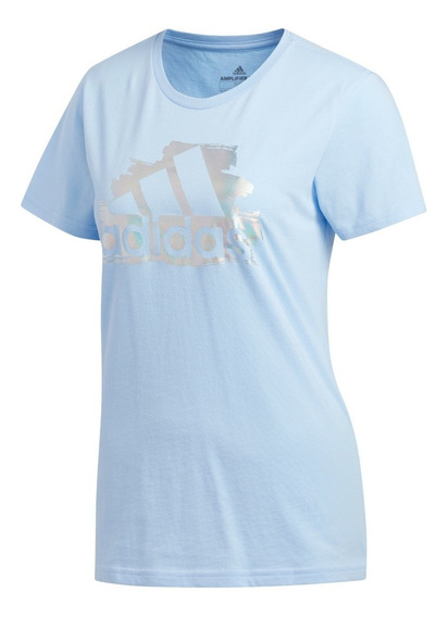 Remera adidas I See You Badge Of Sport Celeste De Mujer
