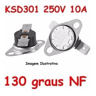 Termostato Ksd301 130 Graus Normal Fechado 250v 10a