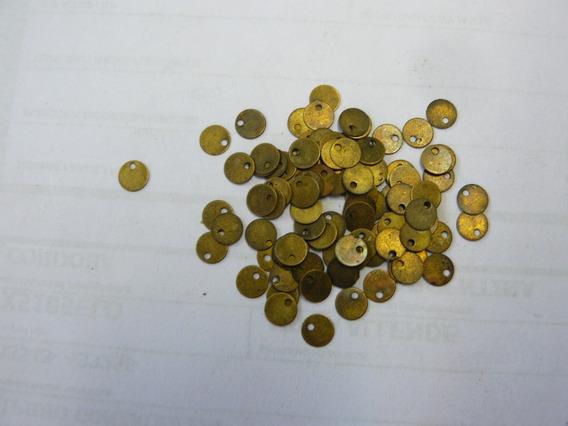 Monedas Bronce P/caderines Danzas Diámetro 5 - X 100 Unid