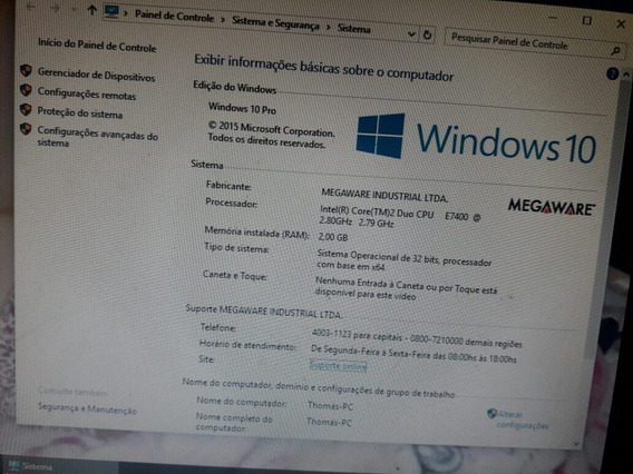Computador Semi Novo Positivo Windows 10 Pro. Sp Zona Leste