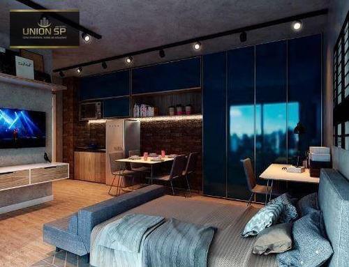 Imagem 1 de 10 de Studio Com 1 Dormitório À Venda, 24 M² Por R$ 400.000,00 - Pompeia - São Paulo/sp - St1573
