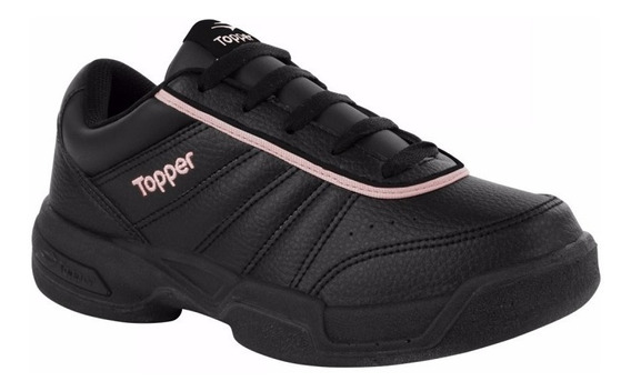 Zapatillas Topper Lady Tie Break Iii Negro Rosa Para Tenis