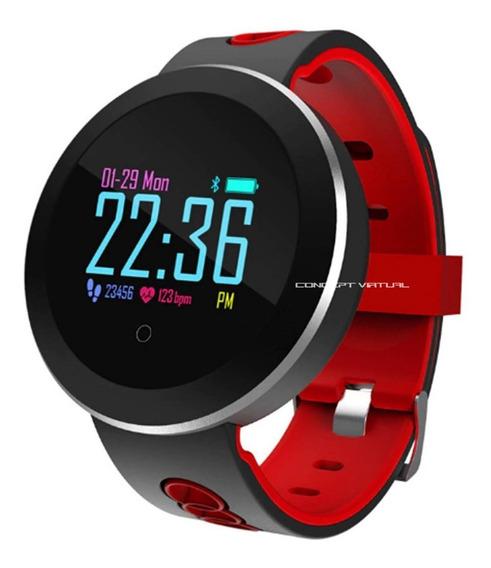 Relogio Bracelete Pulseira Smartwatch Inteligente Corrida Monitor Batimentos Cardíaco Sono Cronometro Digital Pedômetro