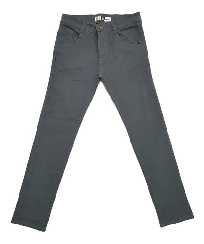 Pantalon Gabardina Gris Nino Chupin Elastizado Talle 4 Al 16 Jots Jeans