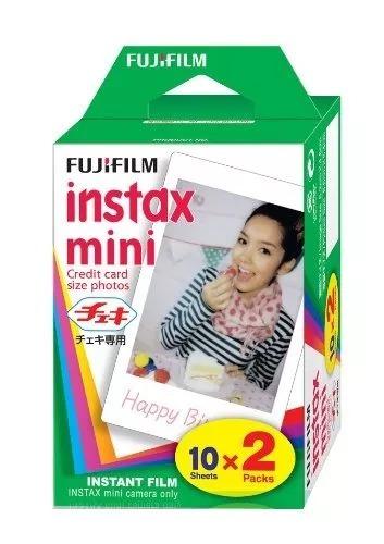 Imagen 1 de 1 de Fujifilm Instax Mini Paquete Doble Film Instantaneo 20 Hojs