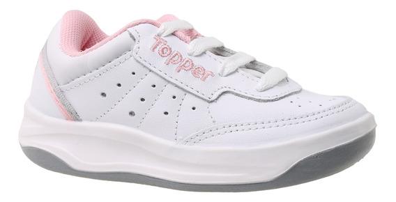 Zapatillas Topper C Tennis X Forcer Kids Niña Bl/rs