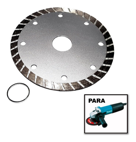 Disco Corte Diamantado Concreto Mármore P/ Esmerilhadeira
