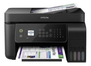 Impresora a color multifunción Epson EcoTank L5190 con wifi 110V negra