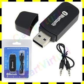 Adaptador De Áudio Receptor De Música Usb + P2 Bluetooth