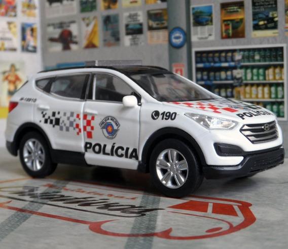 Miniatura Santa Fé Polícia Militar Pm Sp Atual - Em Metal