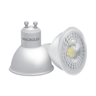 10 Lamparas Dicroica Led Macroled 7w Luz Calida Gu10