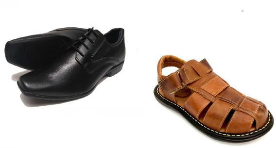Sandalia Masculina Sapato Social Masculino Kit 2 Pares