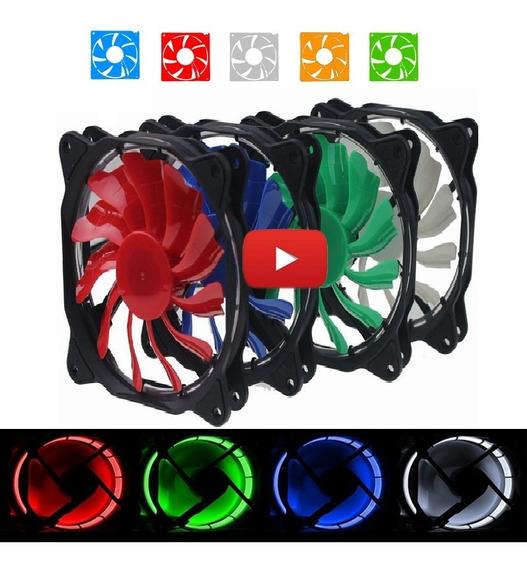 Cooler Led 12cm 120mm Vermelho Azul Verde Pc Gamer Desktop
