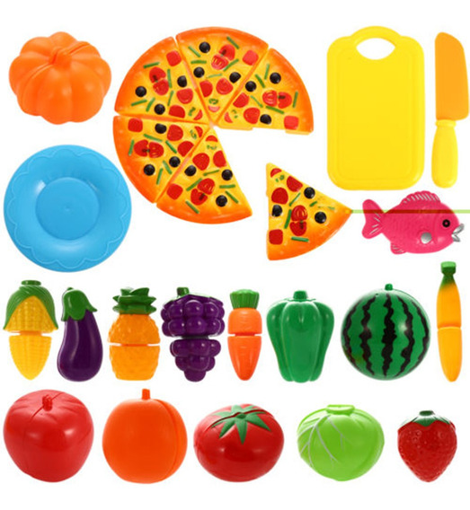 Kit De Alimentos Cortables De Juguete Para Niños 24pcs