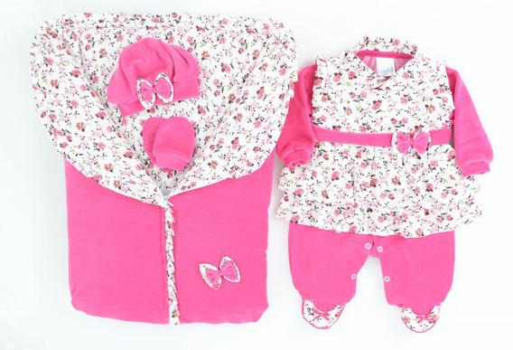 Saída De Maternidade C/ Porta Bebê - Para Meninas