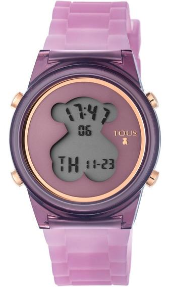 Reloj D-bear Fresh De Policarbonato Correa De Silicona Lila