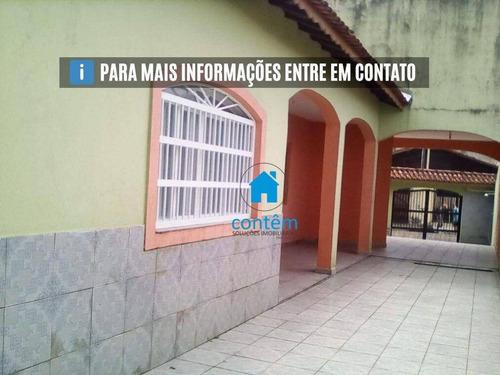 Ca0295 - Casa Com 3 Dormitórios À Venda, 181 M² Por R$ 300.000 - Balneário Europa - Mongaguá/sp - Ca0295