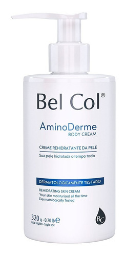 Aminoderme Body Cream 320g Bel Col Cosméticos