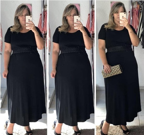 Kit Lote 1 Vestido Moda Plus Size Evangelica Feminino 48/54