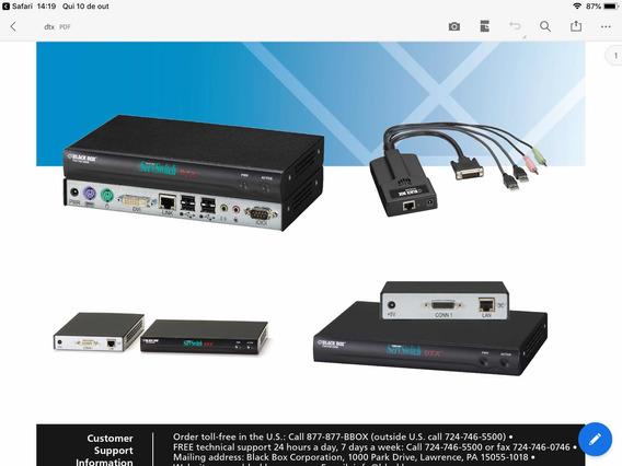 Transmissor E Receptor Kvm Servswitch Dtx Black Box