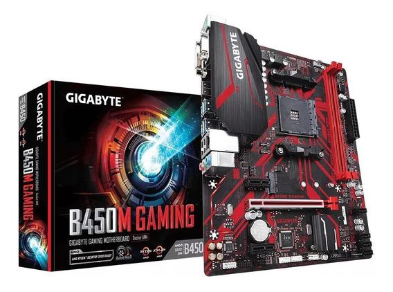 Placa Mãe Gigabyte B450 M Gaming Suporte 3ª Geração Ryzen