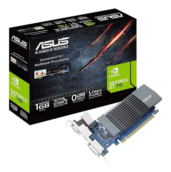 Placa De Video Nvidia Asus Geforce 700 Series Gt 710 Gt710-