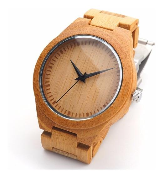 Relógio Masculino Ecológico De Madeira