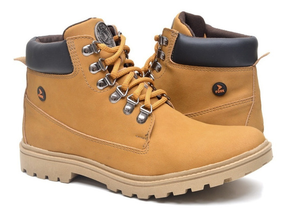 Bota Coturno Masculino Worker Yellow Boot Frete Grátis