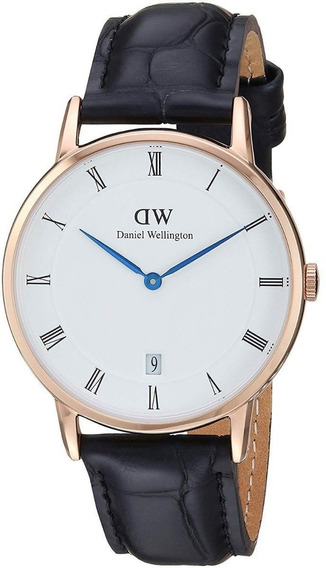 Reloj Daniel Wellington Dapper Reading Dorado Blanco 38mm