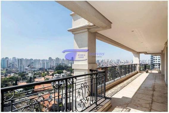Apartamento Luxo, 448 M² Em Moema - Indianópolis - Apartamento Alto Padrão A Venda No Bairro Indianópolis - São Paulo, Sp - A-60759
